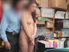 Excellent Teen Hottie Had Some Serious Cravings For Cop Cock