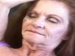 Granny Misti receives creampied