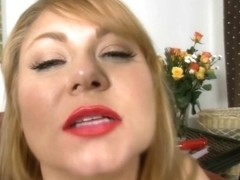 Breasty big beautiful woman mother I'd like to fuck Samantha 38G Sucks Candy Pecker
