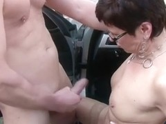 German MILF in Stockings Seduce to Fuck Outdoor