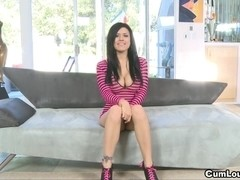 Eva Angelina says 2 hard Dicks are more good then one