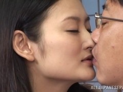 Insatiable Asian milf Risa Murakami in hot threesome banging