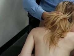 Girl drilled vigorously