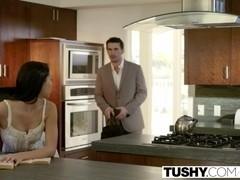 TUSHY Pretty Babysitter Sabrina Banks First Anal