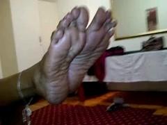 Aged Indian Footjob