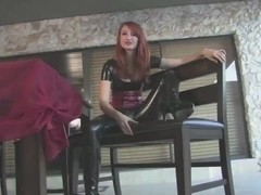 latex redhead jerk off instructions cucumber up your booty JOI