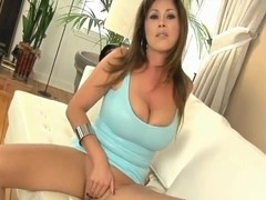 Bimbo gets a cream pie after riding cock