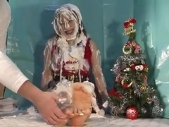 Santa Mai feet tickled & pied