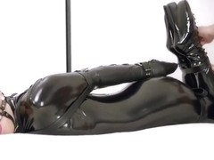 Mina Black Catsuit Bondage-RS