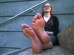 blond stinky feet