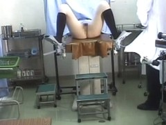 Horny voyeur tapes a hot medical exam.