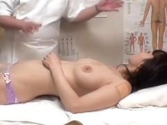 Hidden cam massage video of hot Jap fucking her masseur