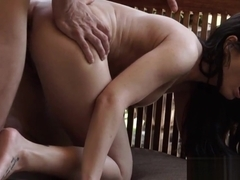 Amazing european babe assfucked outdoor