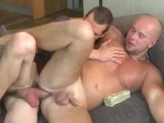 Stud bareback fucked by a big cock