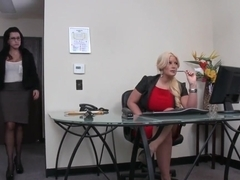 John Strong fucks his hot and sexy secretaries by rotation