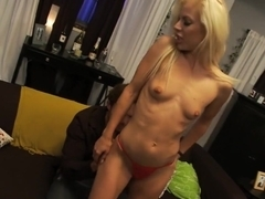 Incredible pornstar Angela Stone in hottest squirting, blonde adult clip
