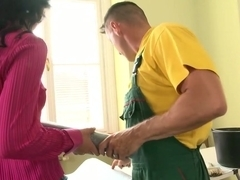 Horny pornstar Roxy Taggart in fabulous threesome, facial porn video