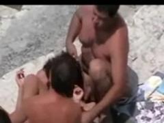 beach swingers