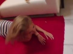 Incredible pornstar Jaelyn Fox in amazing blonde, facial porn clip
