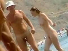 Nudist beach voyeur