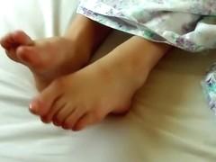 close-up of my beautiful feet
