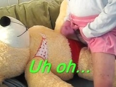Diaper fetish sissy fucking teddy bears and pecker