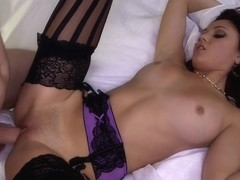 Petite amateur gets her tight pussy fucked