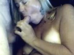 Debbie engulfing my strapon