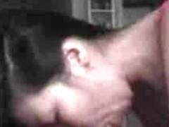 Japanese babe swallowing huge black hard cock