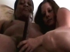 Spoiled hussy strokes black cock and rides it later