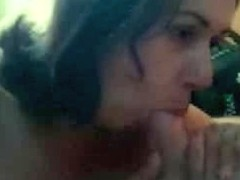 Hairy penis wildly sucked