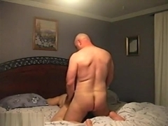 Big Dude Plows His Special Lady On Bed