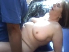 Granny sucking and fucking