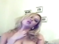 adorable golden-haired showing off on cam