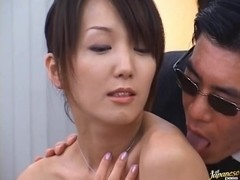 Hot Asian Shiho gets cum drenched during extreme bukkake