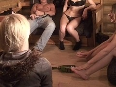 Alice Miller & Amelie Pure & Janet & Trinity in college sex with lots of horny guys and sexy girls