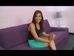 Latina girl enjoys hard interracial sex after interview