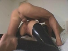 British Blond Catsuit Anal