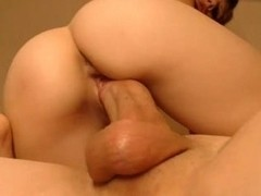 Girl gives blow job aided by her feet also