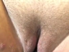 Butt plug in pussy on fucking machine