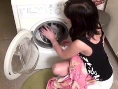 Cute Brunette Teen Massages Her Twat