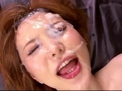 Cute Asian In Real Messy Bukkake! by triplextroll