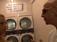Hot Blonde Milf picked up in laundry