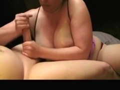 Oiled melons and nice cock sucking