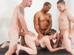 Kiki Daire, Eric Jover in My Hairy Gang Bang #05, Scene #01