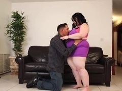 sexy BBW gets fucked on the couch
