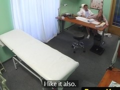 Gushing ###ary fucked on doctors desk