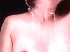 Japanese Women kissing glass virtual