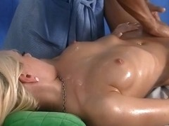 Hard squirting and oral-sex golden-haired with a massage