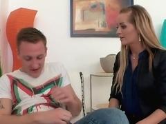 Hottest pornstar Kerry Miller in crazy big cocks, blonde adult video